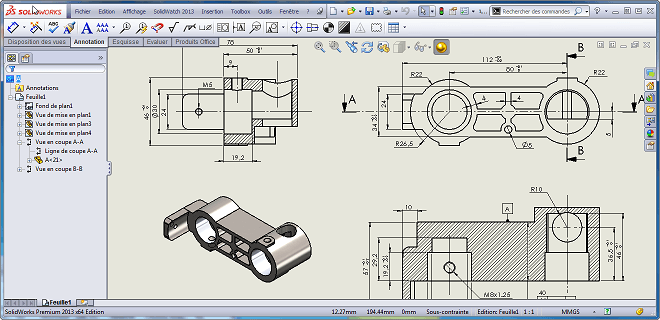 mise en plan solidworks