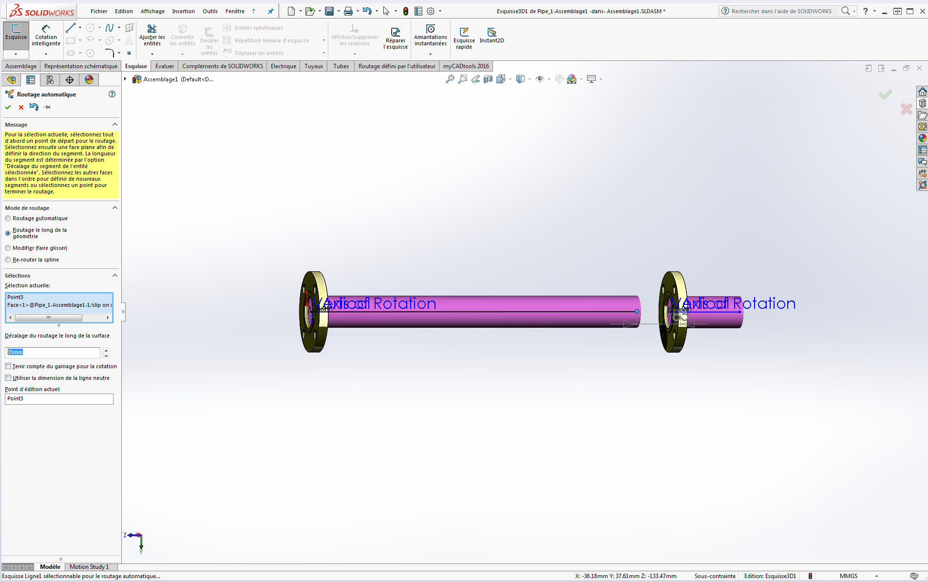 routage automatique solidworks routing