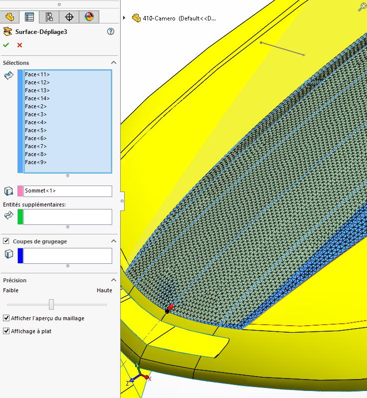 développé surfaces solidworks 9