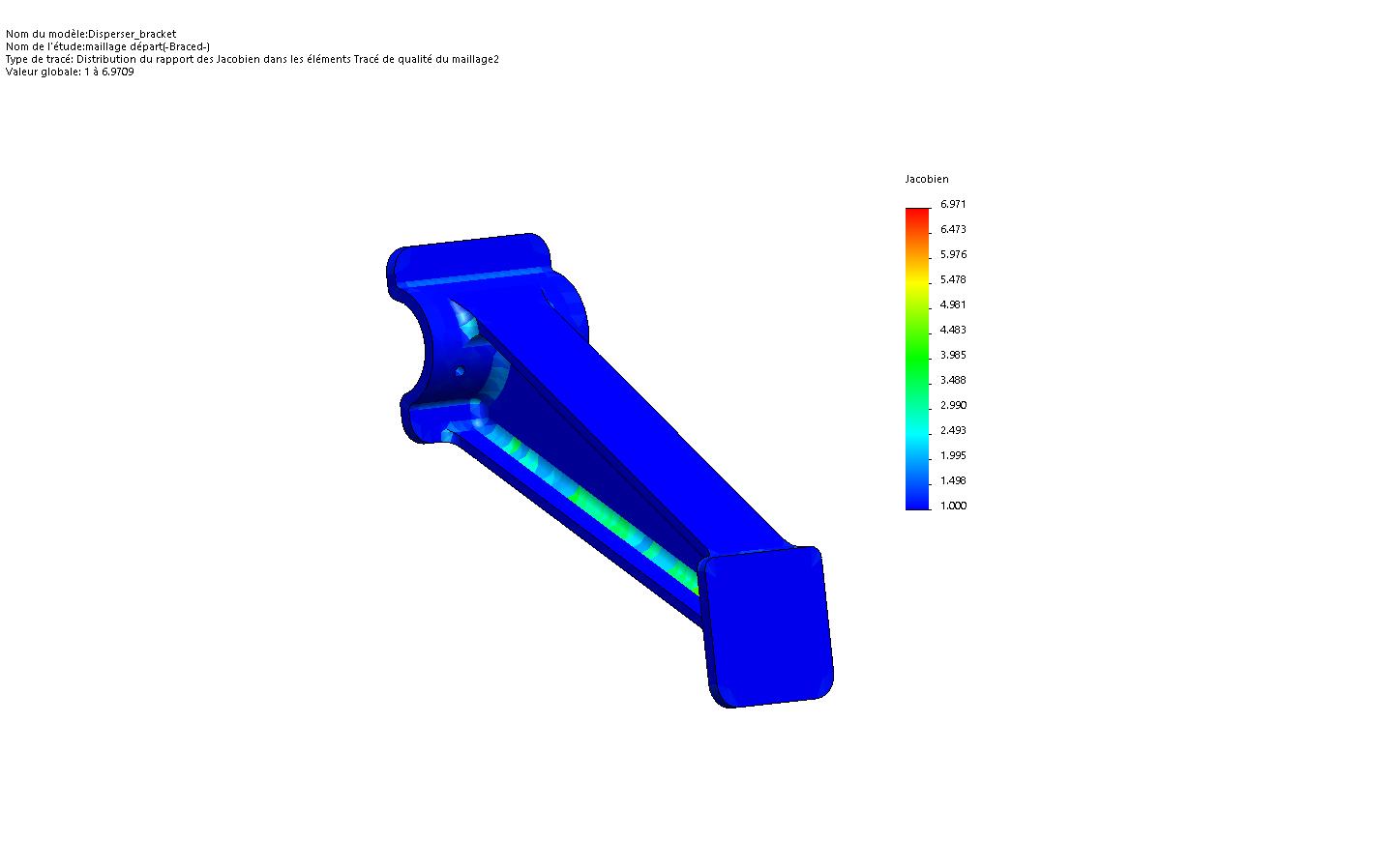 jacobien maillage solidworks simulation