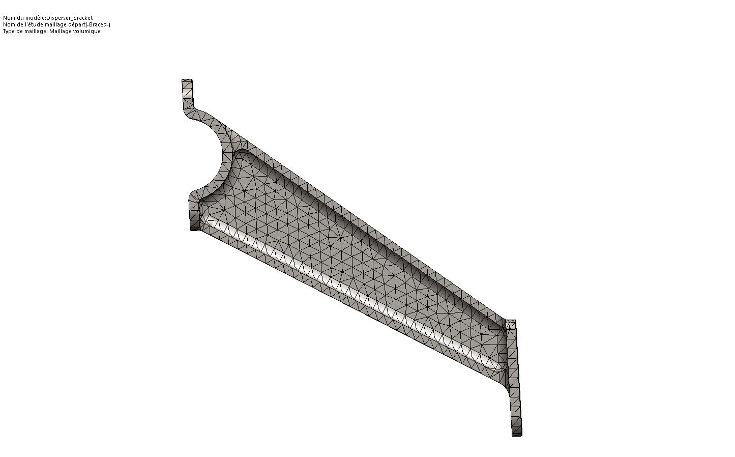 maillage 1 element maillage solidworks simulation