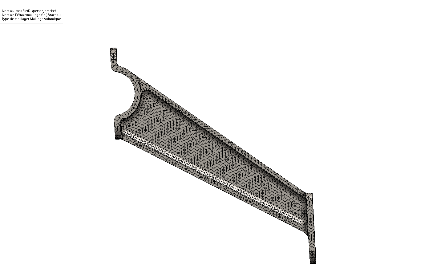 maillage 2 elements maillage solidworks simulation