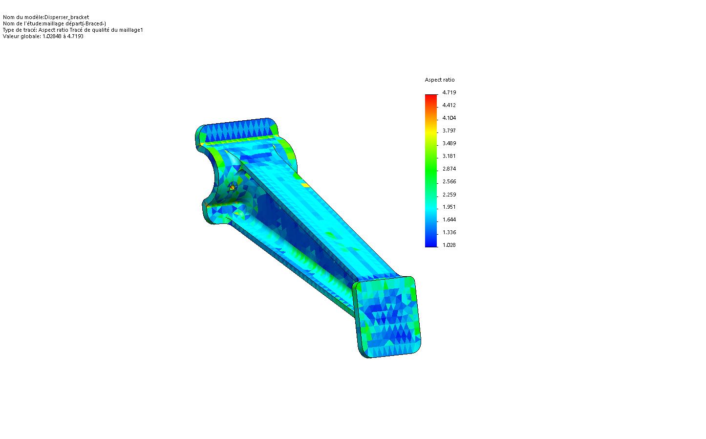 ratio maillage solidworks simulation