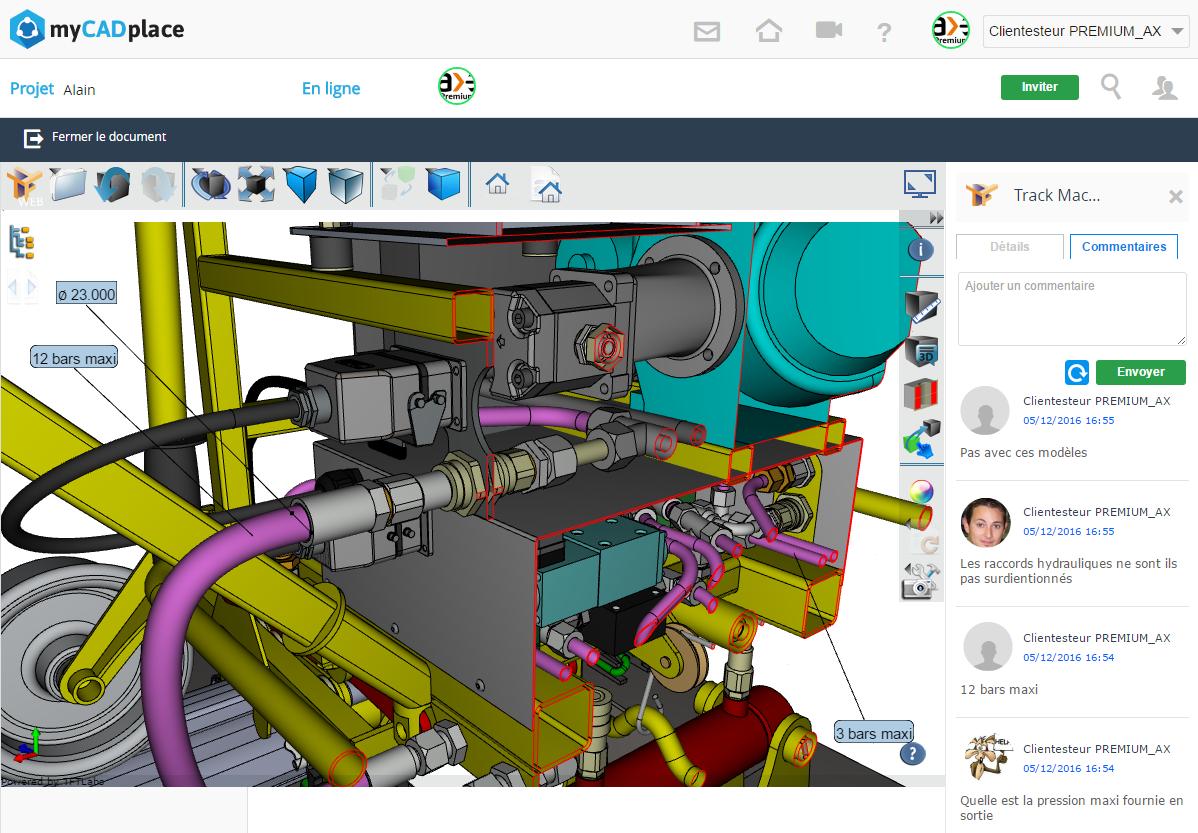 mycadplace2 partage fichiers cao 3D