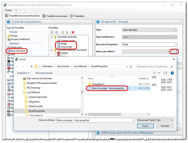 Créer dossier et nommer fichiers SOLIDWORKS automatiquement