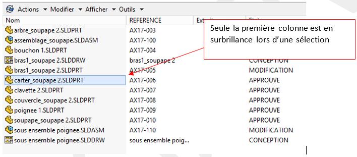 personnaliser les menus PDM Pro