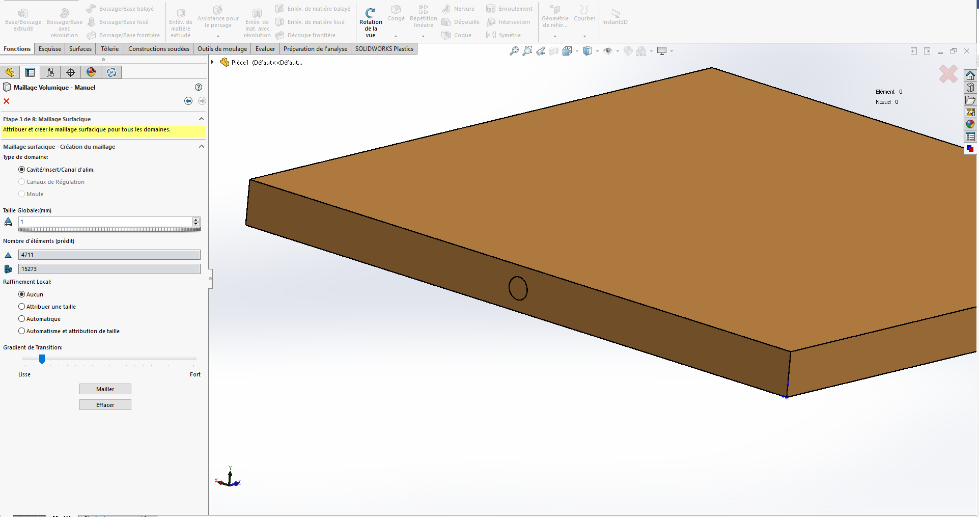 simulation d'injection solidworks plastics