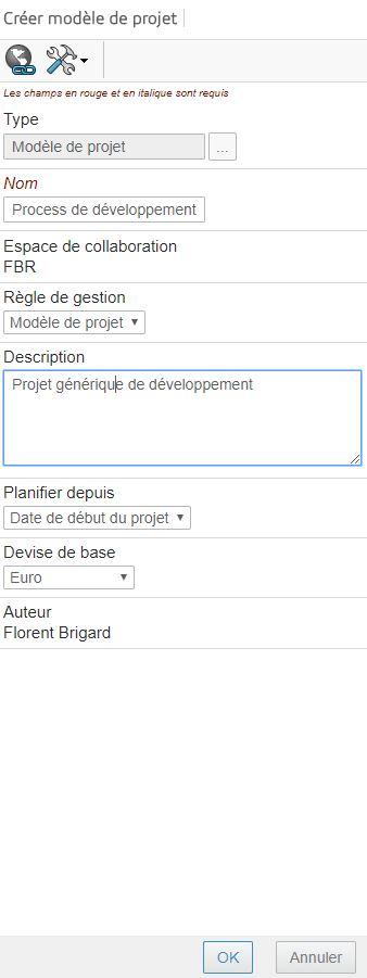 Création modèle de projet - modèle de projet 3DEXPERIENCE
