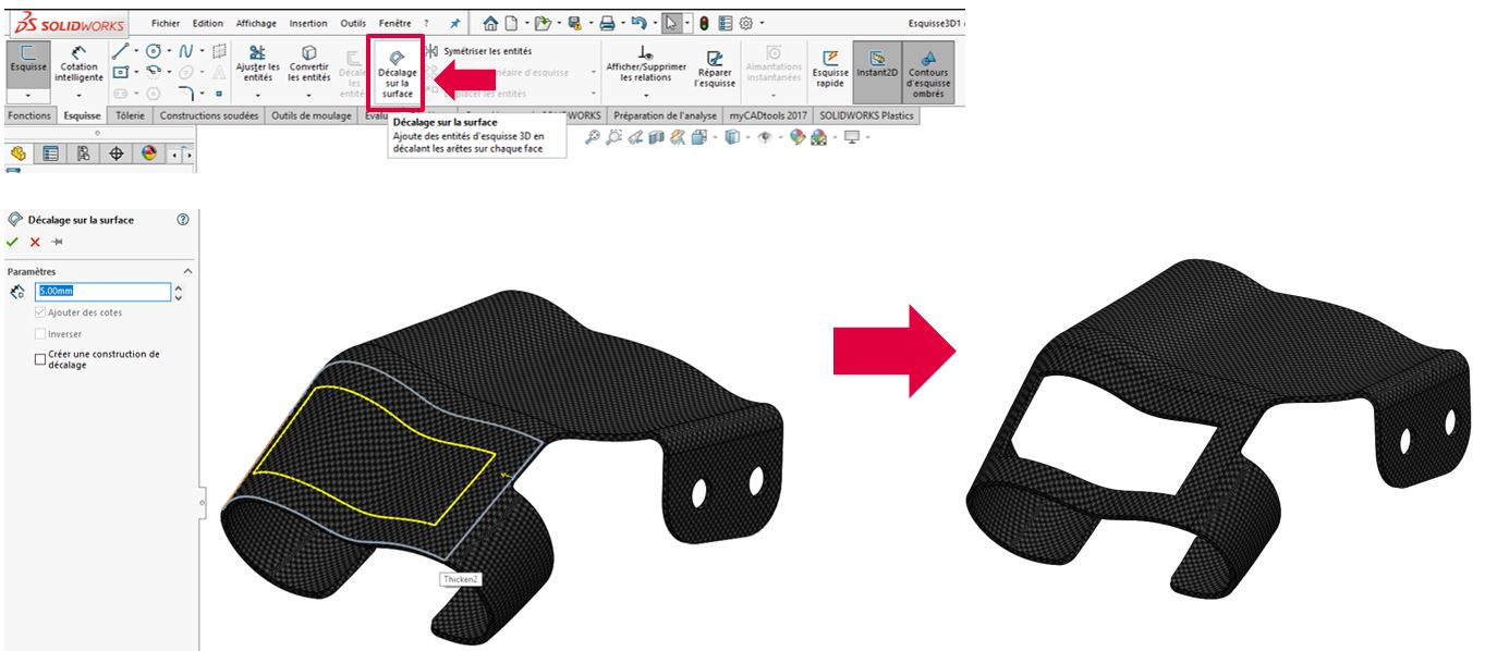 solidworks esquisse 3D