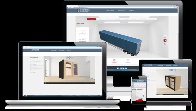 modèle 3D dans un configurateur Web