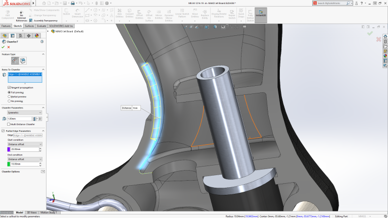 solidworks 2019 chanfrein
