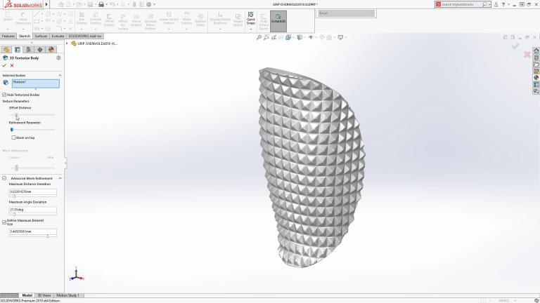 solidworks 2019 texture 3D