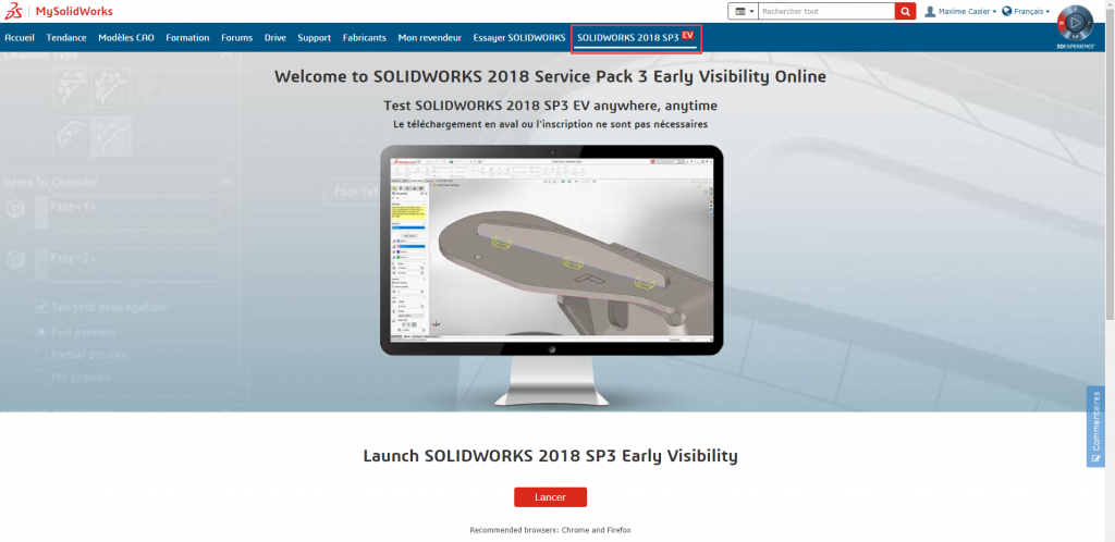 Services Packs EV SOLIDWORKS 2018