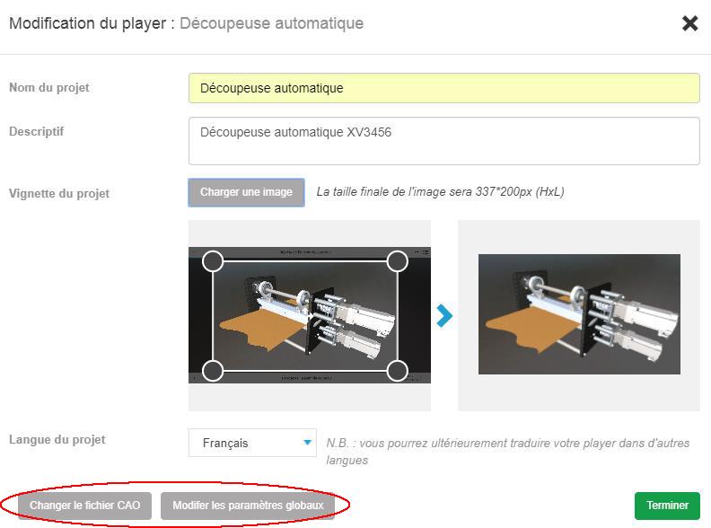 nouveautés my3Dplayer