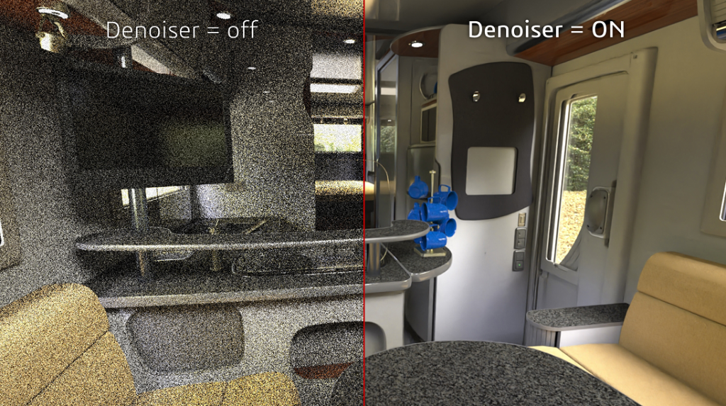 mode denoiser ai solidworks visualize