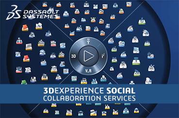 Banniere 3dexperience social collaboration