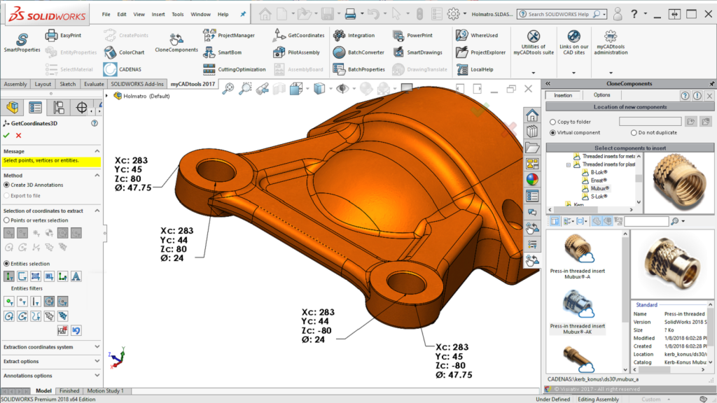 Gold Product SOLIDWORKS