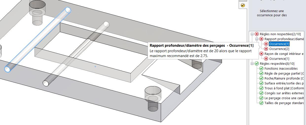 DFMXpress : 5 points pour vérifier la manufacturabilité de vos pièces