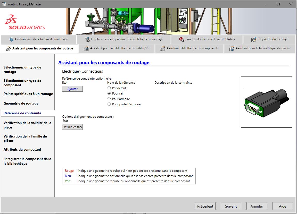 composant de bibliothèque SOLIDWORKS Electrical