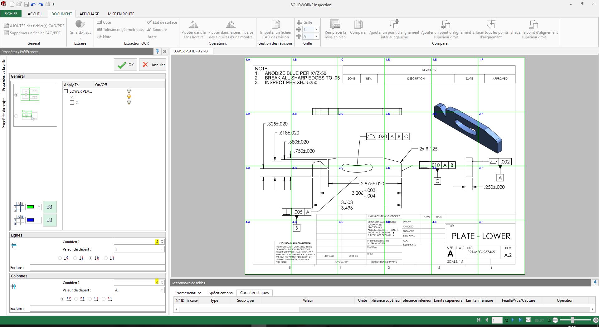 gérer la localisation dans solidworks inspection