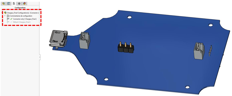 Variantes SOLIDWORKS PCB : pour créer plusieurs configurations de cartes