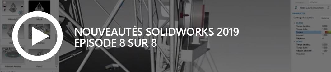Nouveautés SOLIDWORKS 2019 - episode 8