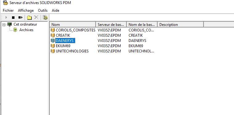 solidworks pdm ajouter sur un nouvel emplacement les données d'archives