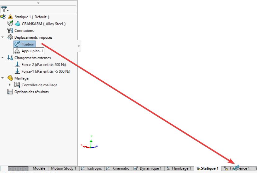 copier les données d'une étude solidworks simulation
